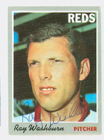 Ray Washburn AUTOGRAPH 1970 Topps #22 Reds 
