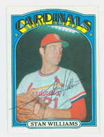 Stan Williams AUTOGRAPH 1972 Topps #9 Cardinals 