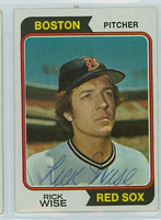 Rick Wise AUTOGRAPH 1974 Topps #84 Red Sox   [SKU:WiseR1667_T74BBle]