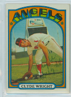 Clyde Wright AUTOGRAPH 1972 Topps #55 Angels 