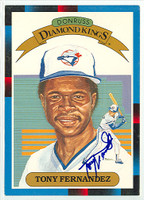 Tony Fernandez AUTOGRAPH 1988 Diamond King Supers Blue Jays 