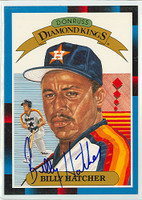 Billy Hatcher AUTOGRAPH 1988 Diamond King Supers Astros 