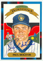 Paul Molitor AUTOGRAPH 1988 Diamond King Supers Blue Jays 