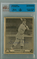 George Case AUTOGRAPH d.89 1940 Play Ball #15 Senators JSA/BVG 