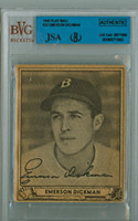 Emerson Dickman AUTOGRAPH d.81 1940 Play Ball #37 Red Sox JSA/BVG 