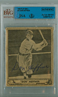 Don Heffner AUTOGRAPH d.89 1940 Play Ball #51 Browns JSA/BVG 
