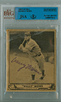 Wally Moses AUTOGRAPH d.90 1940 Play Ball #26 Athletics JSA/BVG 