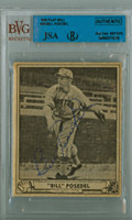 Bill Posedel AUTOGRAPH d.89 1940 Play Ball #58 Braves JSA/BVG 