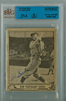 Bob Seeds AUTOGRAPH d.93 1940 Play Ball #91 Giants JSA/BVG 