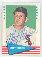 Marty Marion AUTOGRAPH 1961 Fleer Baseball Greats 