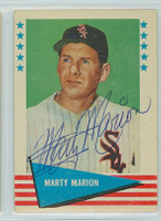 Marty Marion AUTOGRAPH d.11 1961 Fleer Baseball Greats 