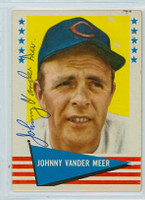 Johnny Vander Meer AUTOGRAPH d.97 1961 Fleer Baseball Greats 