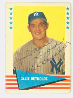 Allie Reynolds AUTOGRAPH d.94 1961 Fleer Baseball Greats 