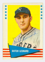 Dutch Leonard AUTOGRAPH d.83 1961 Fleer Baseball Greats 