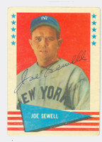 Joe Sewell AUTOGRAPH d.90 1961 Fleer Baseball Greats 