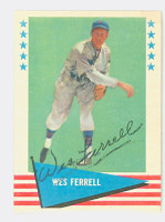 Wes Ferrell AUTOGRAPH d.76 1961 Fleer Baseball Greats 