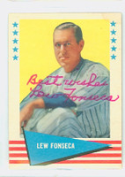 Lew Fonseca AUTOGRAPH d.89 1961 Fleer Baseball Greats 