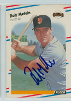 Bob Melvin AUTOGRAPH 1988 Fleer Giants 