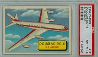 1957 Planes 12 Douglas DC-8 PSA 8 Near Mint to Mint BLUE