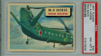 1957 Planes 35 M-4 Horse PSA 8 Near Mint to Mint RED