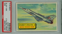 1957 Planes 40 Fairey Delta 2 PSA 8 Near Mint to Mint BLUE