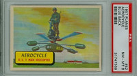 1957 Planes 42 Aerocycle PSA 8 Near Mint to Mint BLUE