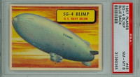 1957 Planes 45 SG-4 Blimp PSA 8 Near Mint to Mint BLUE