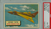 1957 Planes 76 AVRO 707B PSA 8 Near Mint to Mint RED