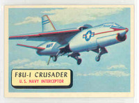 1957 Planes 91 F8U-1 Crusader Near-Mint RED