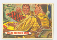 1957 Space 21 Space Checker Game Fair to Poor