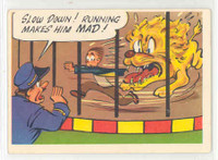 1957 Goofy Postcards 29 Running Makes Him Mad Excellent