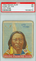 1933 Indian Gum 8 Chief of the Ute Tribe PSA 1 Poor Series 48 Rd