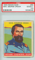 1933 Indian Gum 62 Gen. George Cook PSA 2.5 Good to Very Good