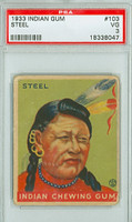 1933 Indian Gum 103 Steel PSA 3 Very Good