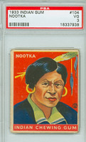 1933 Indian Gum 104 Nootka PSA 3 Very Good
