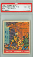 1947 Goudey Indians 33 Setting Fire to the Fort PSA 6 Excellent to Mint