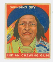 1947 Goudey Indians 76 Sounding Sky Very Good to Excellent