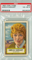 1952 Look N See 45 Amelia Earhart Single Print PSA 4 Very Good to Excellent