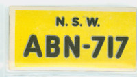 1953 License Plates 47 New South Wales Australia Very Good to Excellent