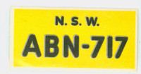 1953 License Plates 47 New South Wales Australia Excellent to Mint