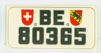 1953 License Plates 53 Canton of Berne, Switzerland Excellent