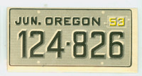 1953 License Plates 54 Oregon Excellent