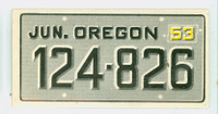 1953 License Plates 54 Oregon Excellent to Mint