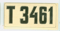 1953 License Plates 57 Norway Very Good to Excellent