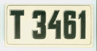 1953 License Plates 57 Norway Excellent