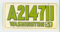 1953 License Plates 71 Washington Very Good to Excellent