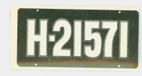 1953 License Plates 72 Netherlands Very Good to Excellent