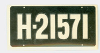 1953 License Plates 72 Netherlands Excellent to Mint