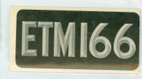 1953 License Plates 73 United Kingdom Very Good to Excellent