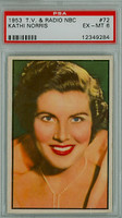 1953 TV-Radio 72 Kathi Norris PSA 6 Excellent to Mint